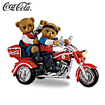 Three-Wheelin Fun With Coca-Cola Teddy Bear Figurine