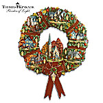 Thomas Kinkade Autumn Village Decorative Wreath: Autumn Home Decor