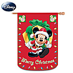 Mickey And Friends Merry Christmas Decorative Flag