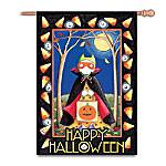 Mary Engelbreit Happy Halloween Decorative Flag