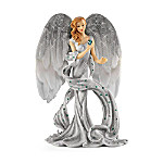 Heavenly Hands That Heal Collectible Purple Angel Figurine