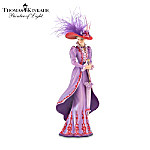 Thomas Kinkade Tea At Three Stylish Woman Figurine