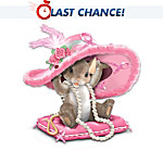 Charming Tails Collectible Hats Off To A Cure Breast Cancer Awareness Figurine