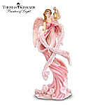 Thomas Kinkade Angel Of Hope Breast Cancer Charity Figurine