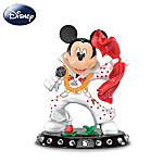 Disney Mickey Mouse And Elvis Collectible Figurine: Jumpsuit Salute