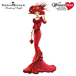 Thomas Kinkade Red At Heart: Heart Health Awareness Figurine
