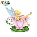 Disney Tinker Bell Tea Rose Delight Teacup Figurine: Tinker Bell Home Decor
