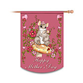 Charming Tails Happy Mother's Day Flag
