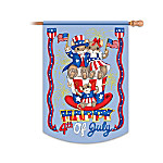 Charming Tails Happy 4th Of July Flag