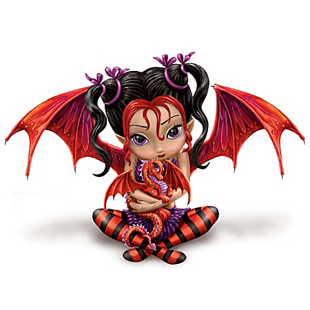 Fairy And Dragon Figurine: Ruby