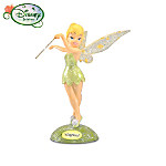 """Disney Tinker Bell """"Magical"""" Figurine With Sparkling Crystalline Wings"""