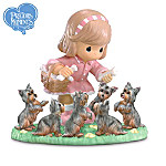 Precious Moments Yorkie Lover Figurine: Tender Woof And Care