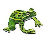 Leopard Artistic Glass Frog Figurine: Endangered Frog Species Support