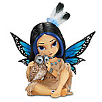 Native American Collectibles Jasmine Becket-Griffith Moonheart, Spirit Of Wisdom Native American-Inspired Fairy Figurine