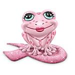 Breast Cancer Support Pink Frog Figurine: Hop For Hope