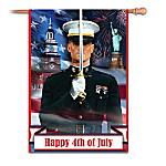Happy 4th Of July USMC Esprit De Corps Outdoor Flag