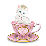 Breast Cancer Support Peter Carl Faberge-Inspired Cat Figurine: A Cup Of Hope