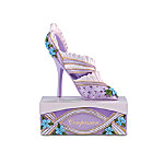 """Alzheimer's Research Support """"Compassion And Style"""" Purple Forget-Me-Not Shoe Figurine"""