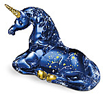 The Stardust Blue Unicorn Figurine: Handcrafted By Master Glass Artisans