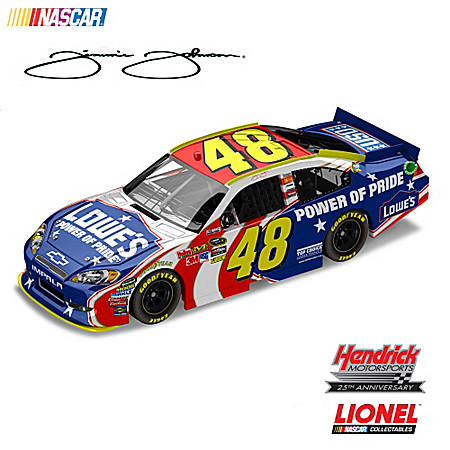 1:24-Scale Jimmie Johnson No. 48 Lowe's Power Of Pride 2011 Chevrolet Impala Diecast Car