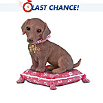 Dachshund Breast Cancer Awareness Figurine