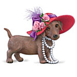 Red Hot Mama Dachshund Figurine