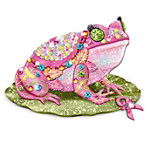 """""""A Hop For Hope"""" Breast Cancer Charity Frog Figurine"""