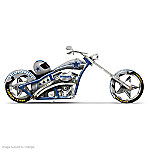 """Dallas Cowboys """"Cruising With America's Team"""" Motorcycle Figurine"""