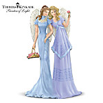 """Thomas Kinkade """"Angels Of Sisterly Love"""" Figurine: Perfect Sister Gift"""