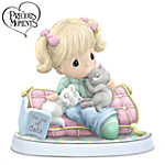"""Precious Moments """"Home Is Where My Cats Are"""" Figurine"""