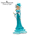 Thomas Kinkade Elegant Promenade Ovarian Cancer Awareness Figurine