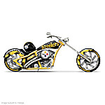 """Pittsburgh Steelers """"Black & Gold Chopper"""" Motorcycle Figurine"""