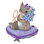 """Charming Tails Alzheimer's Research Support """"Love Never Forgets"""" Figurine"""
