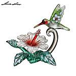 Lena Liu Designed Art Glass Hummingbird Figurine: Fluttering Grace