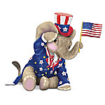 Peanut Pals Patriotic Elephant Figurine: O! Say Can You See