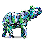 """""""The """"""""Dragonfly"""""""" Louis Comfort Tiffany-Style Elephant Figurine"""""""