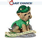"""""""May The Road Rise Up To Meet You"""" Irish Yorkie Figurine"""