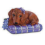 """""""Love Never Forgets"""" Alzheimer's Research Dachshund Figurine"""
