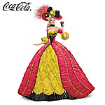 An Imperial Choice Coca-Cola Girl With Peter Carl Faberge-Style Gown Figurine