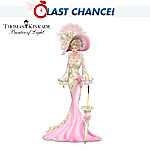 Thomas Kinkade Breast Cancer Support Woman Figurine