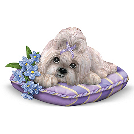 Shih Tzu Alzheimer's Support Figurine: Love Never Forgets