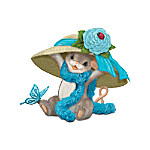Charming Tails Ovarian Cancer Support Mouse Figurine: Hats Off To Hope