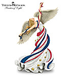 Thomas Kinkade Patriotic Angel Figurine