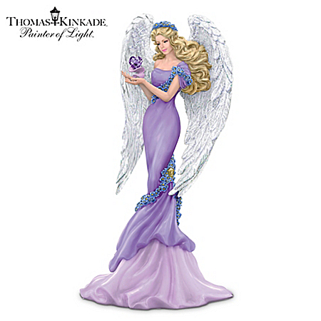 Thomas Kinkade Alzheimer's Support Angel Figurine: Caring