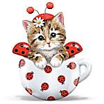 Kitten Ladybug Figurine