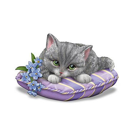 Alzheimer's Support Kitten Figurine: Love Never Forgets