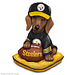 Dachshund Pittsburgh Steelers Figurine