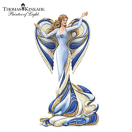 Figurine: Thomas Kinkade Angel Of Devotion Figurine