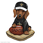 Dachshund New Orleans Saints Sunday Afternoon Quarter-Bark Figurine
