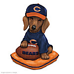 Dachshund Chicago Bears Figurine